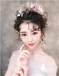唯美新娘化妆造型学员考试