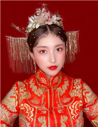 中式新娘化妆学生考试