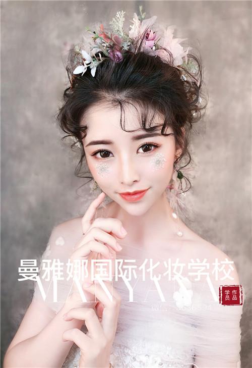 唯美新娘化妆造型,青岛曼雅娜化妆学校