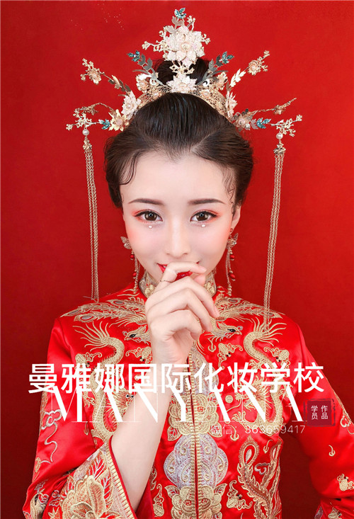 新娘化妆培训学校-中式复古新娘跟妆造型