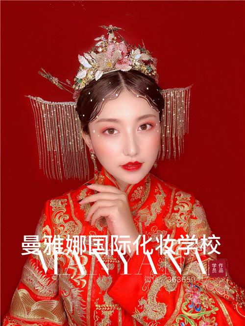 青岛新娘化妆培训,中式复古新娘造型