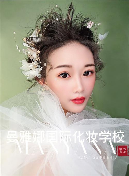 青岛化妆培训学校-新娘化妆造型作品