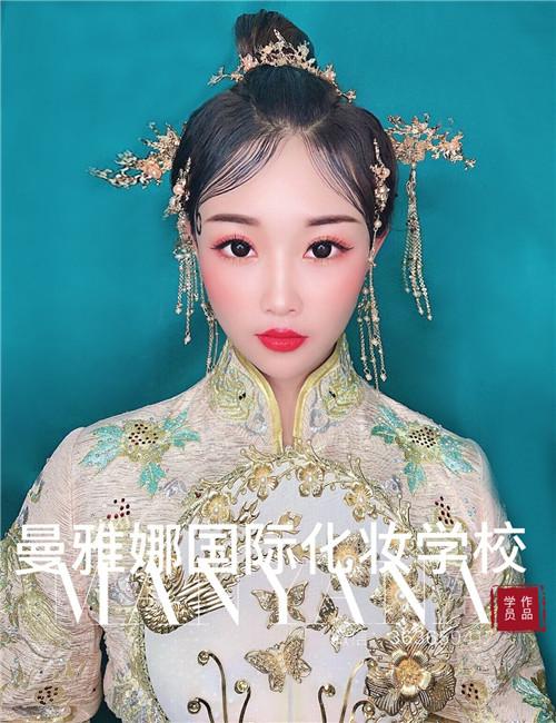 青岛学习新娘跟妆,曼雅娜国际化妆学校