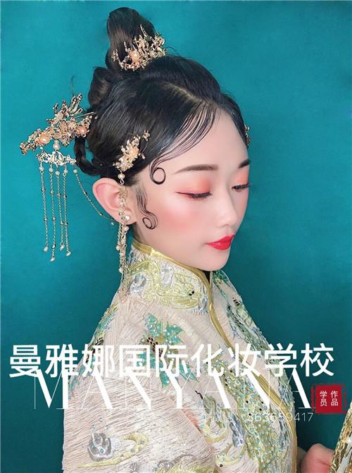 新娘化妆培训,中式复古新娘跟妆