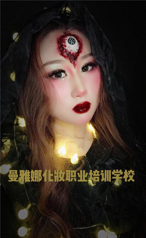 青岛知名的影视化妆学校之一,曼雅娜课堂作品