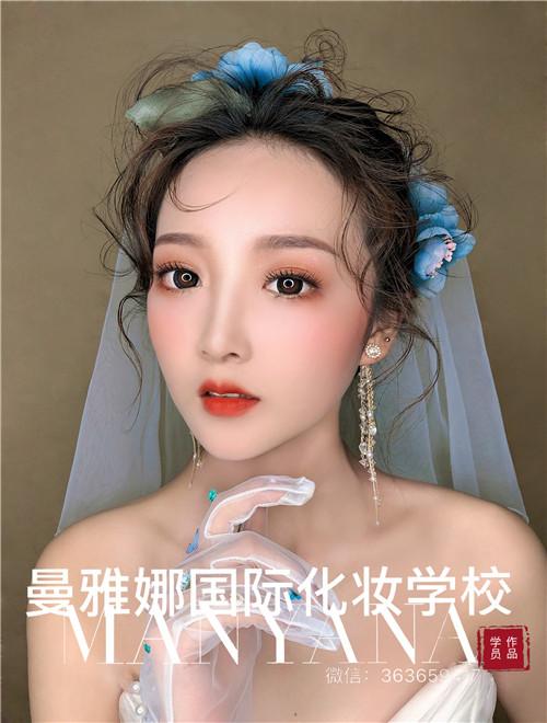 青岛曼雅娜职业学校,新娘化妆造型